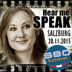 Kerstin Reichert at SEOkomm 2015 in Salzburg
