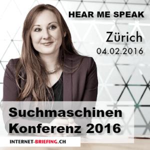 Kerstin Reichert an der Suchmaschinen Konferenz 2016 in Zürich