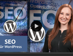 Preview WordPress SEO video training by Kerstin Reichert for video2brain