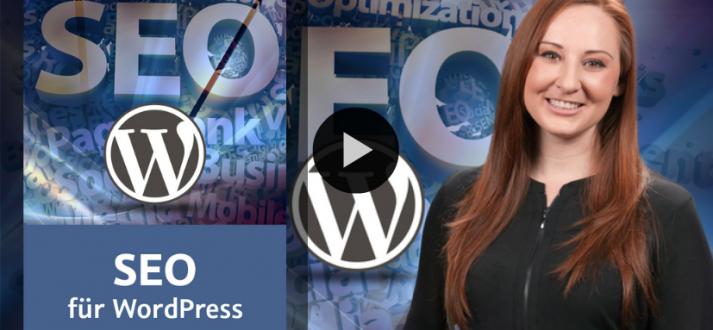 Preview WordPress SEO video training by Kerstin Reichert for video2brain